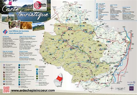 Carte Touristique Du Centre De La by Calam 233 O Carte Touristique Ardeche Plein Coeur2015