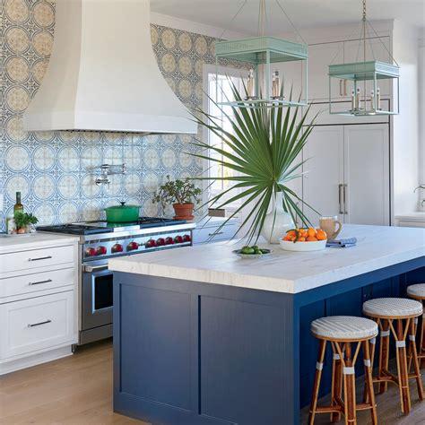 beautiful blue kitchens coastal living