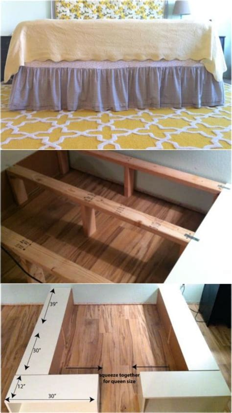 ikea kitchen cabinet bed frame 21 diy bed frame projects sleep in style and comfort