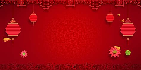 chinese  year poster background material red lantern