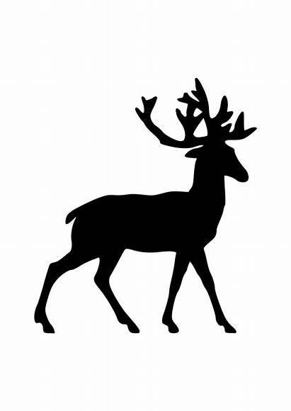 Deer Clipart Silhouette Pictogram Svg Vector Illustration