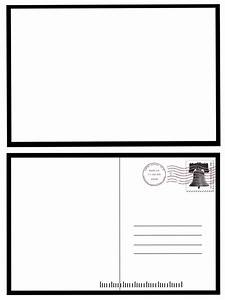 7 best images of postcard back template free blank With free blank postcard template for word