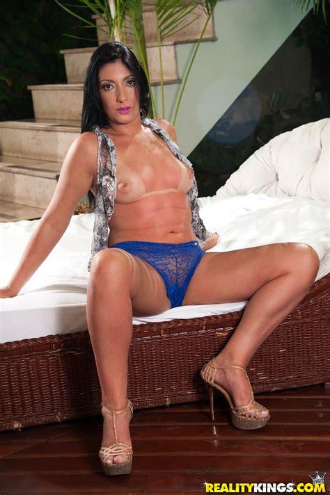 Great Looking Brunette Is Wearing Lacy Panties Milf Fox