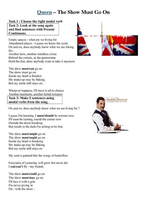 song worksheet show     queen