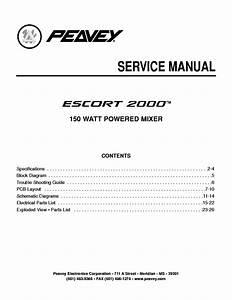 Peavey Electronics Escort 2000 150w