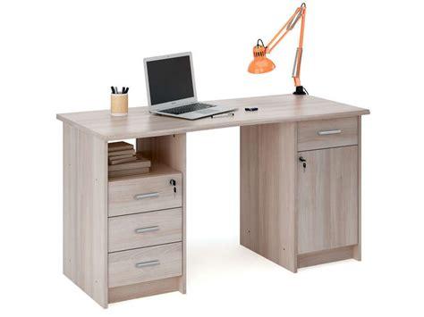 bureau pour ordinateur conforama bureau 135 cm monaco coloris chêne shannon vente de