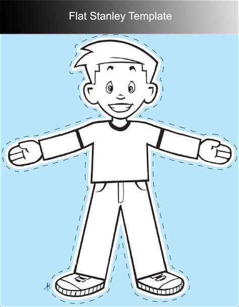 Flat Stanley Template Printable by Flat Stanley Template Doliquid