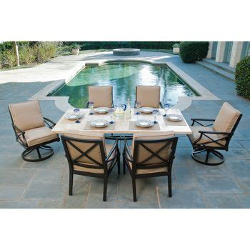 travers 7 patio dining set landscaping