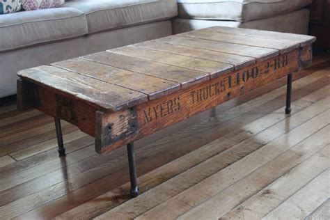 Wood And Iron Coffee Tables