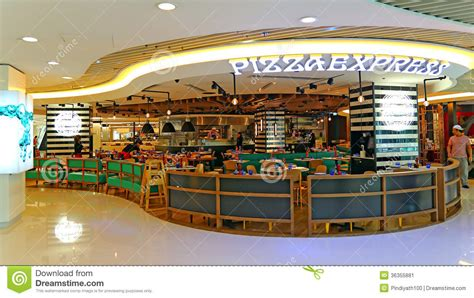 cuisine express pizza express restaurant editorial photo image 36355881