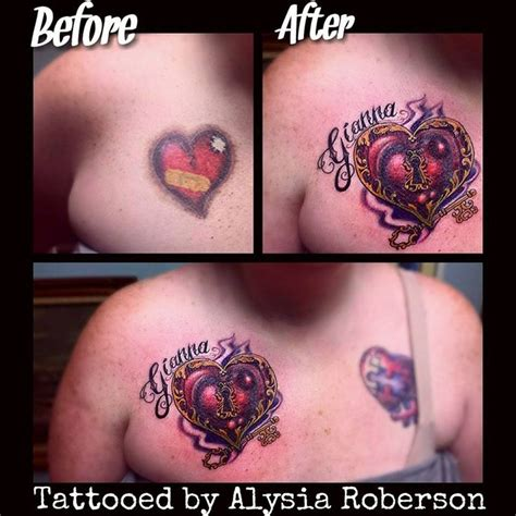 tattoo  cover  heart tattoo images  pinterest