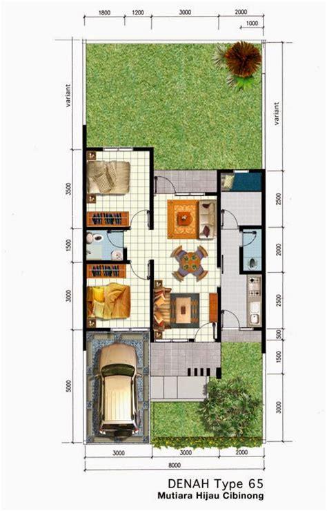 contoh desain denah rumah minimalis  kamar tidur