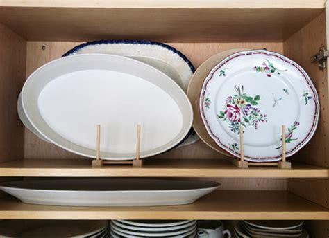 wooden plate holder hack  big platters lids racks