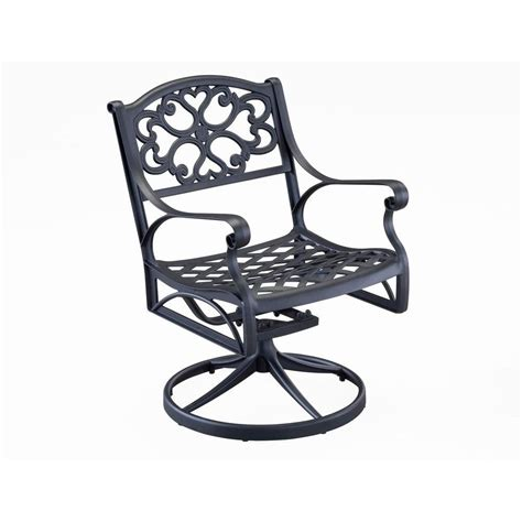 home styles biscayne black swivel patio dining chair 5554