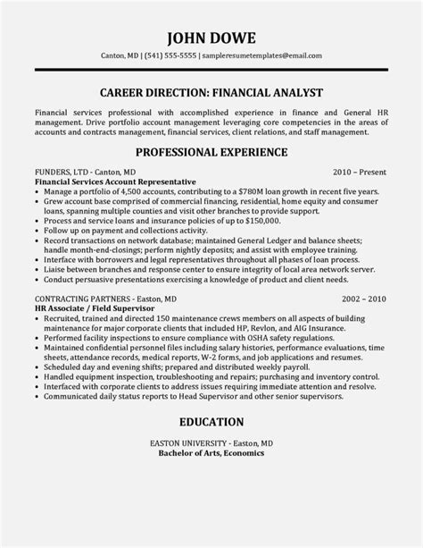 Financial Service Representative Resume by Financial Services Account Representative Resume Sle