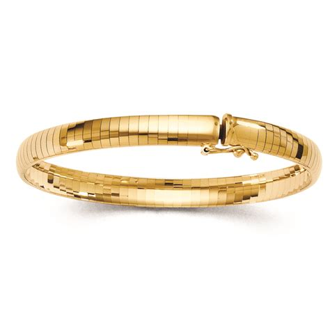 Ladies 6mm Omega Domed Bangle Bracelet 14k Yellow Gold  Q342. Side Cross Bracelet. Rectangle Wedding Rings. Twisted Vine Engagement Rings. Nut Necklace. Heart Rate Monitor Watches. Band With Diamonds. Amavida Engagement Rings. Infinity Bracelet