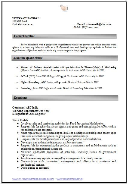 mba finance fresher resume sles free resumes tips