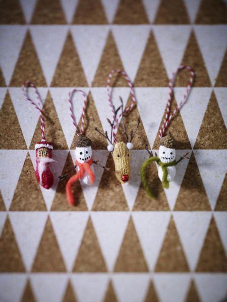 wir basteln weihnachtsbaumschmuck aus nuessen wunderweib