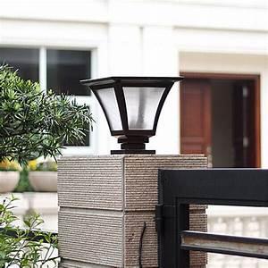 15w 4000mah battery solar pillar light outdoor solar With outdoor solar lights big w