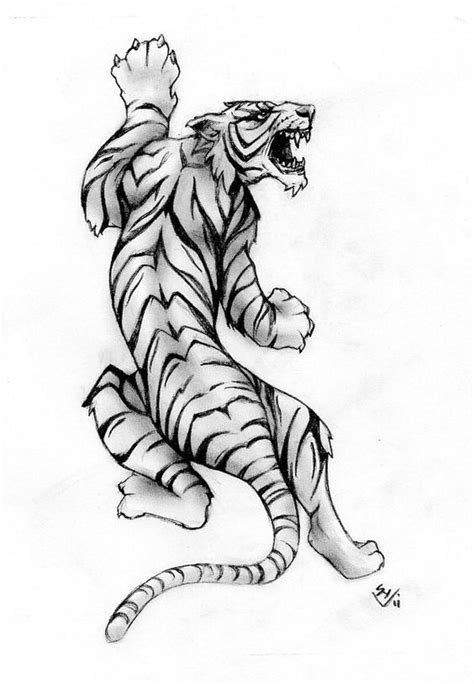 Tiger Tattoo Drawing at GetDrawings.com | Free for personal use Tiger Tattoo Drawing of your choice