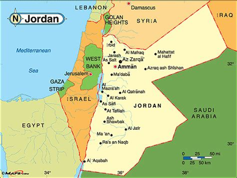 jordan map travelsfinderscom