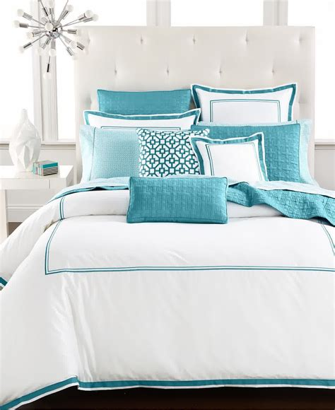 Turquoise And White Duvet Cover by Effigy Of Turquoise And White Bedding Set Product