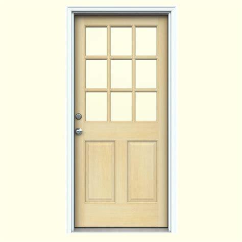 jeld wen entry doors jeld wen 30 in x 80 in 9 lite unfinished hemlock prehung