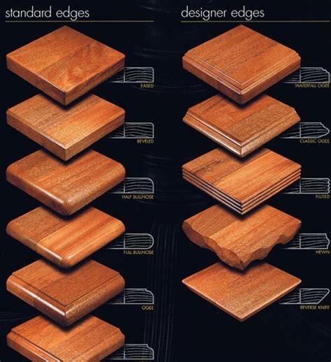 custom wood tabletop edges