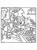 Bakker Kleurplaat Baker Kleurplaten Coloring Jobs Taart Heerlijke Verse Thema Helpers Preschool Knutselen Kleurboeken Theme Feesthoedje Kaarsen Groep1 Zoeken Winkel sketch template