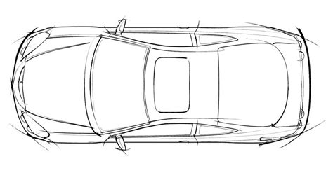 Car Concept Line Drawings