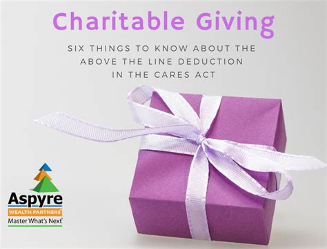 Charitable Giving: 6 Things to Know About The Above-The ...