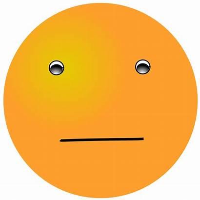 Smiley Face Orange Normal Emoticon Feelings Clipart
