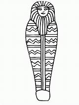 Coloring Sarcophagus Egypt Ancient Drawing sketch template