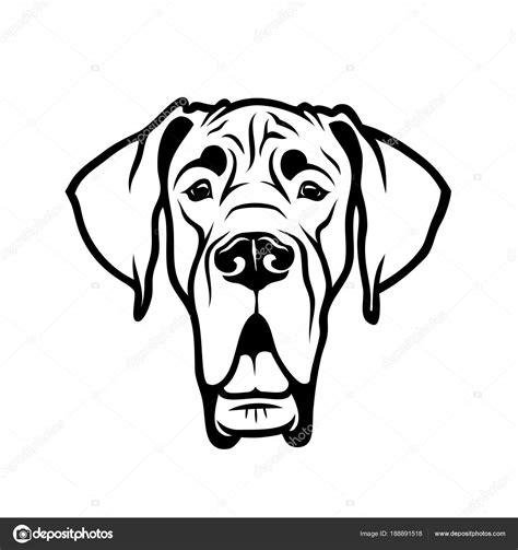 Download great dane logo vector in svg formaat. Great dane outline   Head Purebred Great Dane Outline ...
