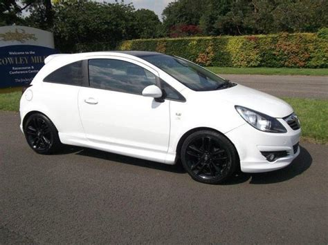 vauxhall white used vauxhall corsa car 2011 white petrol 1 2i 16v limited