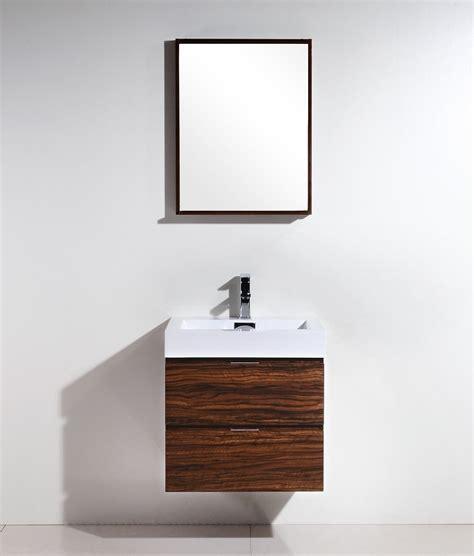bathroom vanity clearance sale toronto bliss 24 quot walnut wall mount modern bathroom vanity