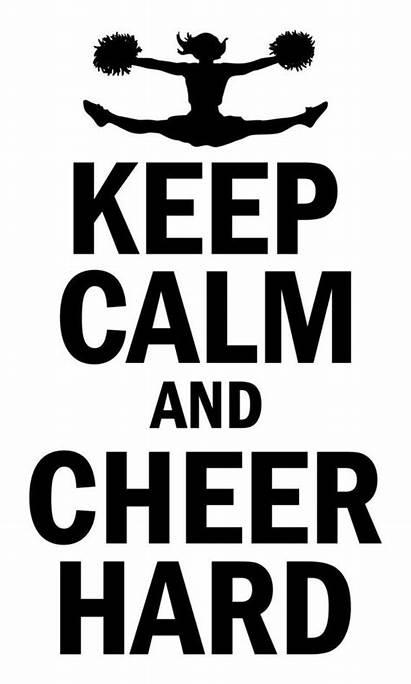 Cheer Quotes Cheerleading Calm Keep Decal Wall