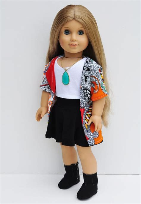 american doll american doll clothes kimono wrap orange paisley patchwork top editor kimonos