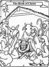 Coloring Jesus Birth Born Colouring Christ Printable Popular Clipart Clip Coloringhome sketch template