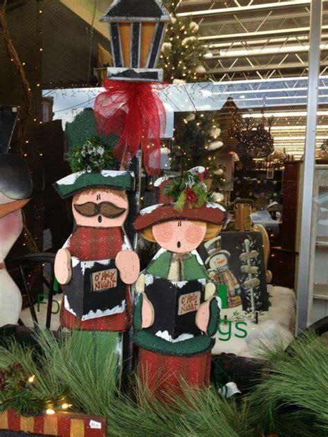 tall wood christmas craft decorations christmas carolers