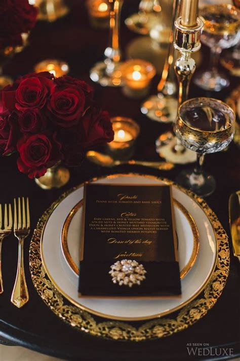 black  gold wedding color ideas  fall winter