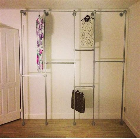 diy closet create two levels for more clothing storage