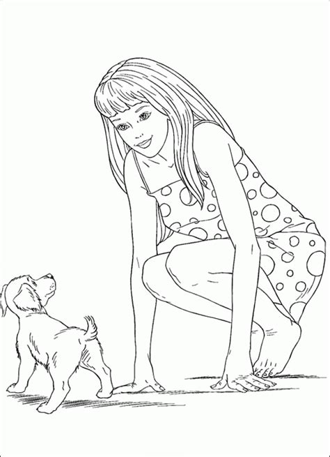 barbie doll coloring pages coloring home