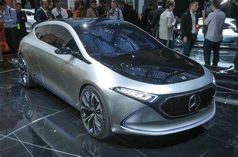 mercedes benz unveils electric eqa hatchback concept autocar