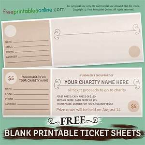 Free Blank Fundraiser Printable Tickets Free Printables