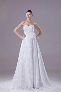 ruban robe de mariee dentelle ruche a ligne grande taille With robe de mariée grande taille pas cher