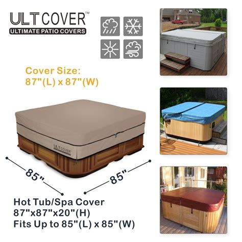 tub cover ult cover 100 waterproof 600d polyester square tub