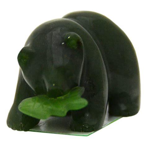 canada souvenirs gifts canadian jade bear holding  fish
