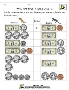 money worksheets   grade  printable money