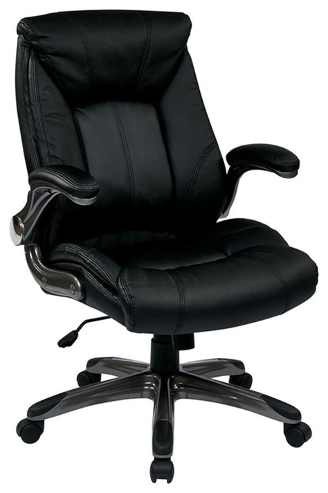 office faux leather mid back managers chair with
